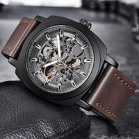 【BENYAR】自動巻き 機械式 腕時計 メンズ 3気圧防水 本革ベルト ビジネス ルミナスハンズ 海外高級ブランド  選べる4色
