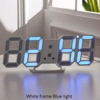 【大人気】掛け時計 デジタル LED 置時計 壁掛け時計 アラーム 日付 温度  3段階明るさ調整付き モダン おすすめ おしゃれ 選べる4色