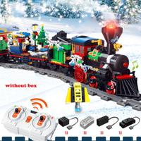 【レゴ互換】 ウィンターホリデイトレイン レール+モーター+リモコン付き 10254 【動く電車】