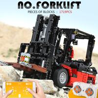 レゴ互換 テクニック フォークリフト 動く モーター コントローラー付き クレーン 乗り物 LEGO風 スマホアプリでも操縦可能★