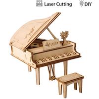 【ROBOTIME】 ピアノ DIY 立体パズル 木製 3D グランドピアノ ロボタイム 組み立てキット 自作 簡単 子供から大人まで楽しめる 【おしゃれ】