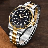 PAGANI DESIGN 腕時計 メンズ 10気圧防水 機械式 自動巻き 日付表示 発光 ステンレスベルト パガーニデザイン コスパ抜群 ビジネス 選べる5色