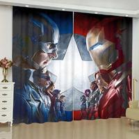 アベンジャーズ 遮光カーテン 海外 グッズ アイアンマン バットマン カーテン かっこいい マーベル インテリア 7種類 4サイズ展開