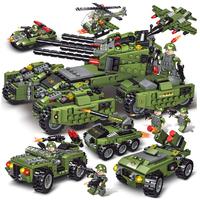 レゴ互換 戦車 6in1 ヘリコプター 戦闘機 車両 特殊部隊 車両 飛行機 戦争 兵士 兵隊 軍隊 戦争 ミニフィグ ブロックセット LEGO風