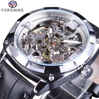 【FORSINING】 自動巻き メンズ腕時計 スケルトン 機械式 3気圧防水 本革ベルト 海外トップブランド 選べる4色
