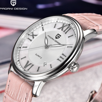 PAGANI DESIGN 腕時計 レディース 防水 レザーベルト クォーツ 日付表示 薄い パガーニデザイン おしゃれ 選べる3色