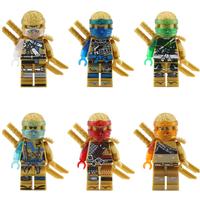レゴ互換 ニンジャゴー ミニフィグ 6ピース 剣 レゴニンジャゴー おもちゃ おすすめ ブロック セット 忍者 LEGO風 知育 お子様へのプレゼントにも★