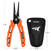 カストキング プライヤー フィッシング KastKing 針外し フック外し 釣り具 420ステンレス タングステン ストレート スプリット 海外トップブランド 選べる4パターン