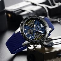 【MEGIR】スポーツウォッチ シリコンバンド 防水 クロノグラフ メンズ腕時計 日付表示 クォーツ ミリタリー ルミナスハンズ 海外トップブランド 選べる2色