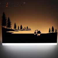 ウォールランプ モダン レトロ 白鳥の湖 LED 寝室 ベッドサイド リビング ダイニング 室内 壁 インテリア おしゃれ かわいい 黒