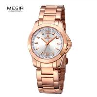 MEGIR ステンレス レディース腕時計 シンプル 防水 3気圧 女性 3ATM クォーツ 選べる4色