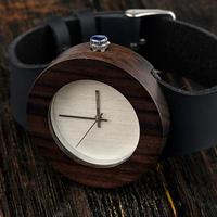BOBO BIRD エレガント レディース 本革バンド エボニーウッド 海外人気ブランド ボボバード 木製腕時計 軽量 クォーツ 木の温もり 黒 C09