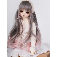 BJD ウィッグ ロング ウェーブ 球体関節人形 カスタムドール 人形用 かつら 髪 耐熱 DD SD MSD YOSD 選べる4サイズ