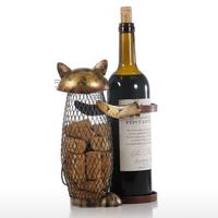 Tooarts ワインラック 猫 金属製 ワインスタンド ホルダー 網目 芸術的 かわいい ねこ 動物 手作り プレゼントにも 24cm