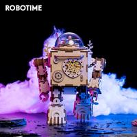 【オルゴール】 ROBOTIME ロボット 3D立体パズル Can't take my eyes off you ロボタイム 木製 組み立てキット  DIY 自作 組み立て簡単 【君の瞳に恋してる】