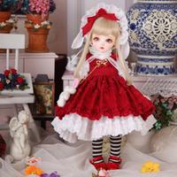 球体関節人形 BJD 1/6 フルセット 本体+眼球+服+靴+ウィッグ+メイクアップ済み 女の子 美しい カスタムドール 樹脂 26cm 選べる2色