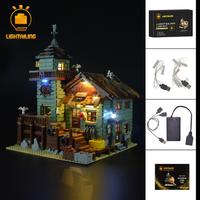 レゴ 21310 つり具屋 レトロ 互換 LEDライトキット バッテリーボックス ライトアップ セット 古き良き雰囲気★