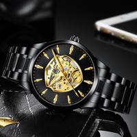 【2020】 MEGALITH スケルトン 自動巻き メンズ腕時計 機械式 防水 ステンレスバンド 海外トップブランド 高級 人気 【選べる3色】