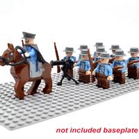 レゴ互換 フランス軍 ミニフィグ10体+馬+機関銃+ライフル 豪華セット レゴ特殊部隊 戦争 第二次世界大戦 WW2 軍隊 兵士 兵隊 LEGO風
