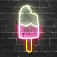 【ネオンライト】 アイスクリーム 食べかけ ネオンサイン 【アイス屋さん】