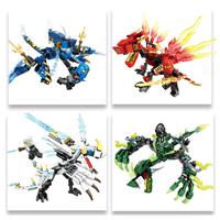 レゴ互換 ニンジャゴー ミニフィグ ドラゴン レゴニンジャゴー ブロックセット 剣 知育玩具 忍者 知育 LEGO風 お子様へのプレゼントにも 豪華4セット★