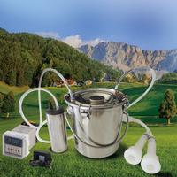 搾乳機 ミルカー 自動 山羊用 ヤギ 容量5L 真空ポンプ ステンレス製 乳搾り 自動 電動搾乳機 酪農 家庭用 ファーム ミルク