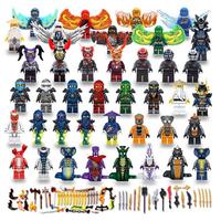 レゴ互換 ニンジャゴー ミニフィグ 40体 武器セット ブロックセット Ninjago LEGO風 お子様へのプレゼントにも★