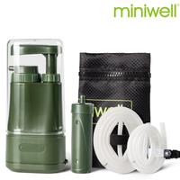 miniwell 浄水器 携帯 除去率 99.9% 医療レベル 高性能フィルター 持ち運び便利 旅行 釣り 登山 サバイバル 災害対策 L610