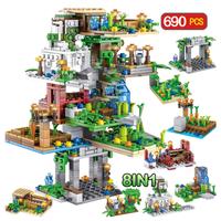 レゴ互換 ツリーハウス 8in1 ガーデン ミニフィグ付き 庭 畑 人参 野菜 植物 ブロックセット マインクラフト LEGO風 知育玩具 女の子 男の子