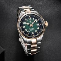 PAGANI DESIGN メンズ腕時計 10気圧防水 機械式 自動巻き 日付表示 発光 ステンレスベルト パガーニデザイン コスパ抜群 選べる4色