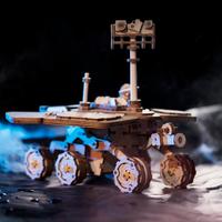 Robotime 3d立体パズル Spirit Rover 火星探査機 スピリット スペースハンティング 組み立て キット ソーラーカー ソーラーパネル モーター付き 木製パズル