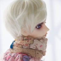 BJD ウィッグ ショート 人形用 球体関節人形 カスタムドール SD DD MSD YOSD ケイスケイホワイト ピンク ブルー 選べる2サイズと3色