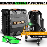 DEKO レーザー墨出し器 セット 三脚付き 緑 コスパ抜群 5ライン 6ポイント 360度 水平 垂直 グリーン 大工道具 人気 おすすめ 高性能 便利なBMCボックス付き★
