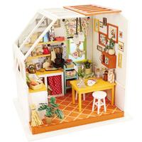 【ROBOTIME】ミニチュアハウス キッチン ドールハウス DG105 DIY 台所 木製 組み立てキット 3D立体パズル 自作 【夢の世界が広がる】