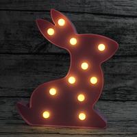 ナイトライト ベッドサイドランプ うさぎ LED 電池式 クリスマスパーティー 寝室 子供部屋 おもちゃとしても おすすめ かわいい おしゃれ