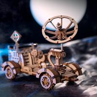 Robotime 3d立体パズル Moon Buggy 組み立て キット ソーラーカー ソーラーパネル モーター付き 木製パズル 自作 お子様へのプレゼントにも★