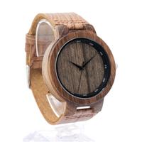 ボボバード 木製腕時計 BOBO BIRD メンズ 本革ベルト クォーツ ゼブラウッド D22 渋くて可愛いデザイン