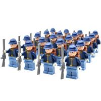 レゴ互換 北アメリカ ミニフィグ 南北戦争 20体 特殊部隊 武器 セット 銃 バッグ 戦争 軍隊 兵士 兵隊 ミリタリー North America LEGO風