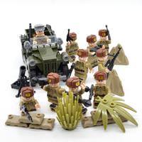 【レゴ互換】 ソビエト軍 赤軍 兵士ミニフィグ10体+車両+武器 【戦争】
