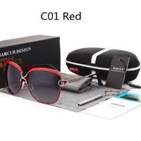 BARCUR 偏光サングラス レディース 人気 UV400 紫外線99%カット 偏光レンズ ファッション 高性能 かわいい 釣り 運転におすすめ 海外高級ブランド 選べる5色★