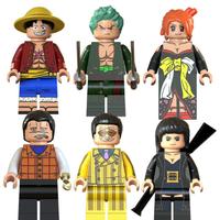 レゴ互換 ワンピース ミニフィグ 6体セット ルフィ ゾロ ナミ クロコダイル 黄猿  ONE PIECE フィギュア LEGO風 ブロックセット★