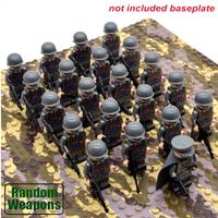 レゴ互換 イタリア軍 ミニフィグ 21体 武器 特殊部隊 第二次世界大戦 WW2 Italian army 銃 戦争 軍隊 兵士 兵隊 ブロックセット LEGO風