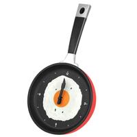 【目玉焼き】 壁掛け時計 グッズ フライパン ウォールクロック インテリア 【3色展開】