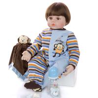 リボーンドール 男の子 ベビードール トドラー人形 リアル 本体+服+ウィッグ+おもちゃ付き 本物そっくり 柔らかい 60cm
