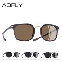 AOFLY 偏光サングラス メンズ 人気 海外トップブランド ポラロイド UV400 軽量 スクエア 旅行 釣り ドライブ 運転 ビーチ 海 選べる4色