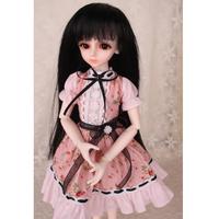 球体関節人形 衣装 ドレス 花柄 ピンク BJD ドール服 カスタムドール 可愛い セクシー 1/3 1/4 1/6 選べる3サイズ