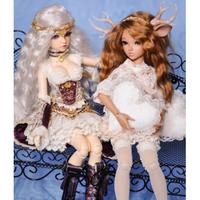 球体関節人形 妖精 フェアリー 1/4 本体+眼球+メイクアップ済み BJD カスタムドール 美少女 美しい 選べる6色