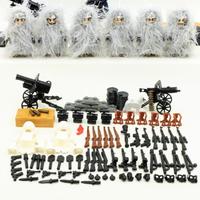レゴ特殊部隊 ミニフィグ 雪ギリースーツ LEGO互換 スノーギリー 迷彩 SWAT カモフラ スワット スナイパー 戦争 銃 ナイフ ショットガン 武器 軍隊 兵士 兵隊