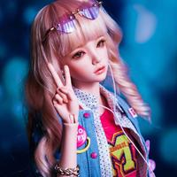 球体関節人形 女の子 1/4 BJD 本体+眼球+メイクアップ済み 手作り マリ 美しい カスタムドール かわいい ホワイト ピンク ノーマル 選べる3色