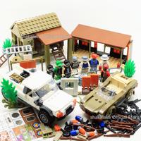 レゴ互換 PUBGセット バトルロイヤル ゲーム パブジー FPS 特殊部隊 SWAT スワット 家 ジープ 車両 銃 武器 LEGO風 ブロックセット